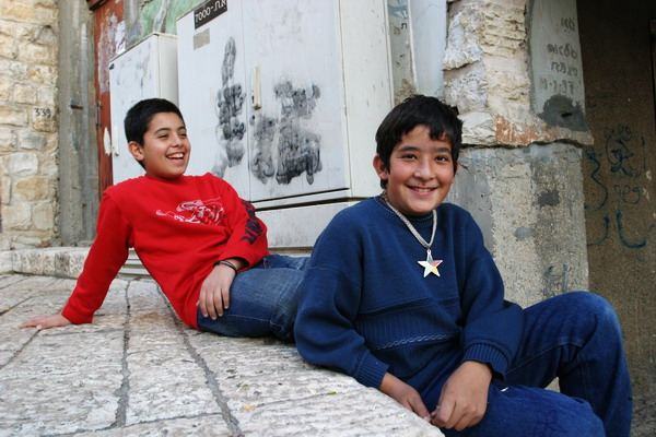 Druze kids in Pqiin, Israel
