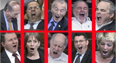 Yawn Masters in Knesset
